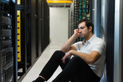 Server frustration Stock Photography