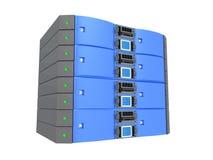 Server gêmeo - azul Fotos de Stock Royalty Free