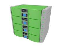 Server gemellare - verde illustrazione vettoriale
