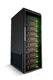 Server with green lights on. Single server with green lights on Royalty Free Stock Image