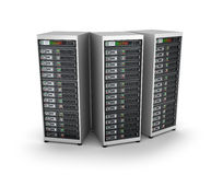 IT server grid, over white Royalty Free Stock Photos