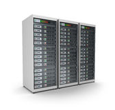 Server grid or render farm.  on white. Royalty Free Stock Photo