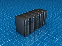 Server grigi illustrazione vettoriale