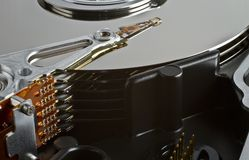 Server hard disk drive in close up Royalty Free Stock Photos