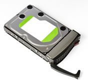 Server Hard disk drive in hot swap frame Royalty Free Stock Image