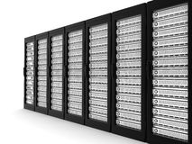 Server high-end row Royalty Free Stock Photo