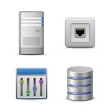 Server hosting icon Stock Images
