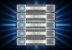 Server i cyberspace Royaltyfria Foton