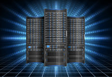 Server i cyberspace stock illustrationer