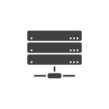 Server icon , network storage solid logo illustration, pic Stock Images