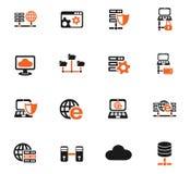 Server icon set Stock Images