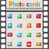 Server icon set Stock Photo