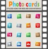 Server icon set Royalty Free Stock Photo