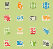 Server icon set Royalty Free Stock Image