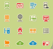 Server icon set Royalty Free Stock Images