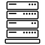 Server icon on white background Stock Photography
