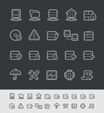 Server Icons // Black Line Series Royalty Free Stock Images