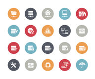 Server Icons // Classics Series. Vector icons for your web, mobile or printing projects Stock Photography
