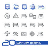 Server Icons // Line Series. Vector icons set for your web or presentation projects Royalty Free Stock Photography