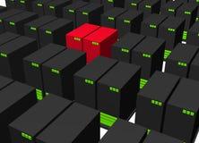 Server infettati di allarme dell'intruso del virus Fotografia Stock Libera da Diritti