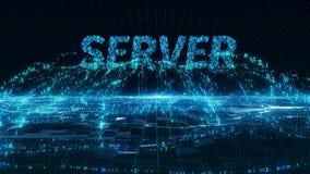 Server internet information mobile blue digital concept 4k uhd stock video