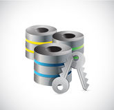 Server key security illustration design Royalty Free Stock Image