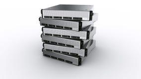 Server múltiplos da cremalheira Imagem de Stock