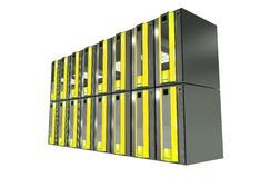 Server Machines Isolated Stock Photography