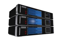 Server Machines Isolated Royalty Free Stock Image
