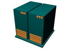 Server Mainframe Hardware. Isolated on White Background stock illustration