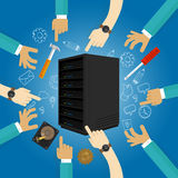 Server maintenance fixing hardware troubleshooting preventive planed backup data Royalty Free Stock Photography