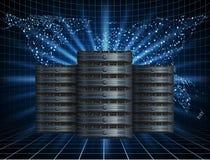 Server met Achtergrond stock illustratie