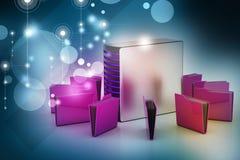 Server mit Dateiordner Lizenzfreies Stockfoto