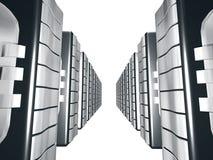 Server mit silbernem Metall Stockfotografie