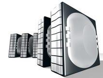 Server mit silbernem Metall Stockbilder