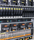 Server montati cremagliera Immagini Stock