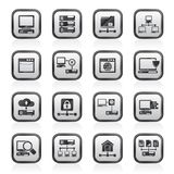 Server and network icons Royalty Free Stock Images