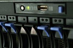 Server- och razzialagring Arkivfoto
