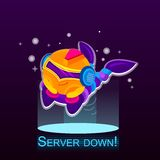 Server onderaan pictogram Stock Foto