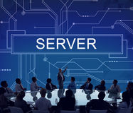 Server Online Technology Storage Software Concept Royalty Free Stock Photos
