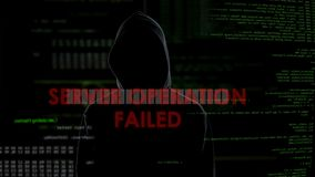 Server operation failed, unsuccessful hacking attempt, disappointed criminal. Stock footage stock video
