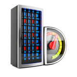 Server performance. Concept  on white background. 3d rendering image Royalty Free Stock Photography