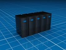 Server pretos Imagens de Stock Royalty Free