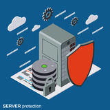 Server protection, network security vector concept Royalty Free Stock Photo