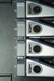 Server rack. Black server  in Server rack Stock Image