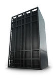 Server Rack. Single server rack facing the front with a white background Stock Images