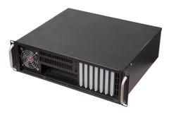 Server rack case on white background Stock Photos