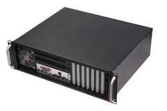 Server rack case on white Stock Photo