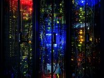 Server rack cluster Royalty Free Stock Photos