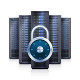 Server Rack Lock Realistic Isolated Illustration Royalty Free Stock Images
